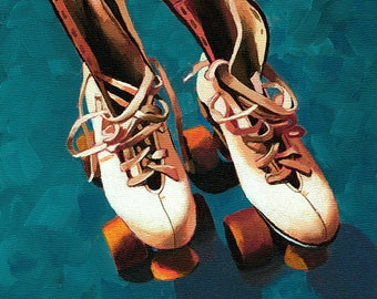 Old School Roller Skates painting