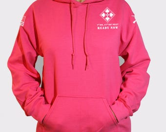 Pink Women's Cut Unit Hoodie Sweatshirt. This is NOT approved for PT. *Free Shipping for orders sent to base only*