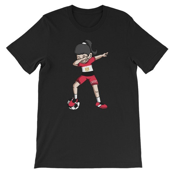 Egypt Dabbing Soccer Girl With Soccer Ball And Country Flag  79402aba1