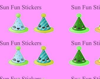 Party Hat Stickers