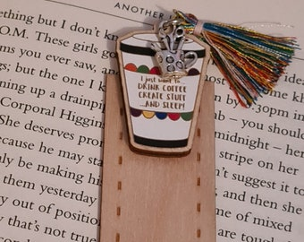 Life Goals Coffee wooden bookmark in gift box