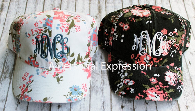 afbfd185a Monogrammed Cap, Floral, Pineapple, Flamingo, Gingham, Stripe,  Personalized, Spring, Summer, Beach Hat, Pool, Graduation Gift, Mother's Day