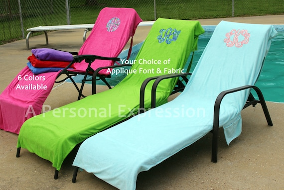 Enjoyable Monogrammed Beach Pool Lounge Chair Cover Applique Floralmonogram Bridesmaid Cruise Mothers Day Graduation Birthday Teacher Embroidery Alphanode Cool Chair Designs And Ideas Alphanodeonline