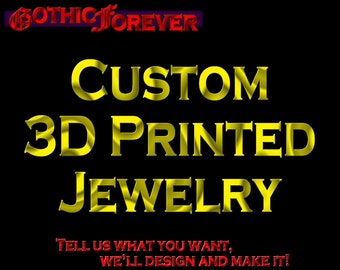 Custom 3D Printed Jewelry! We can make almost anything, send us a message! Earrings Necklace Pendant Bracelet Cosplay Anime Video Game Etc