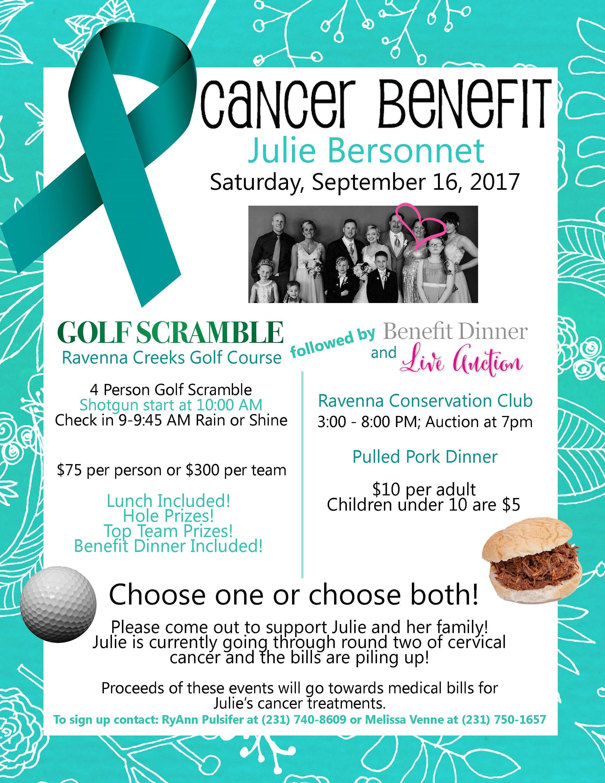 cancer benefit flyer design