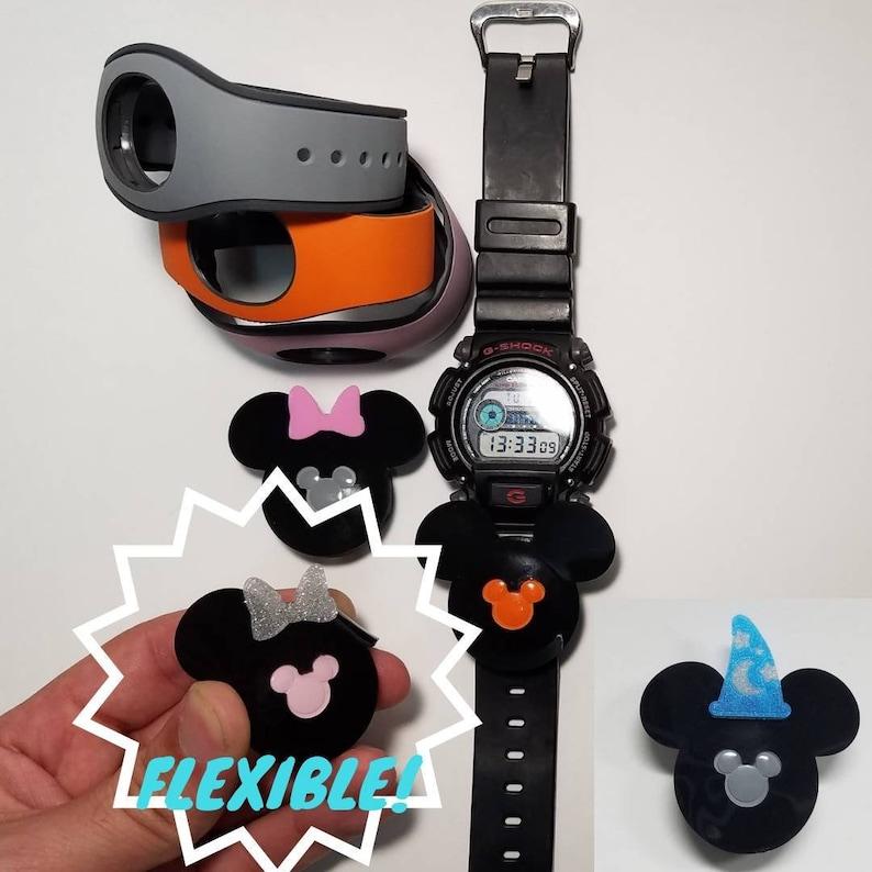 Magic Band 2 / FLEXIBLE / Puck Holder / Watch Slider / Mouse Ear / Fast  Pass / Puck Keeper / Apple Watch / Fitbit / Lanyard / Disney Gift