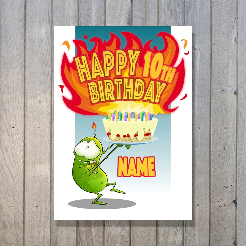 eejits 'cake & candles' Birthday Card  Personalised image 0