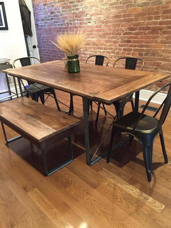 Items Similar To Custom Made Rustic Industrial Dining