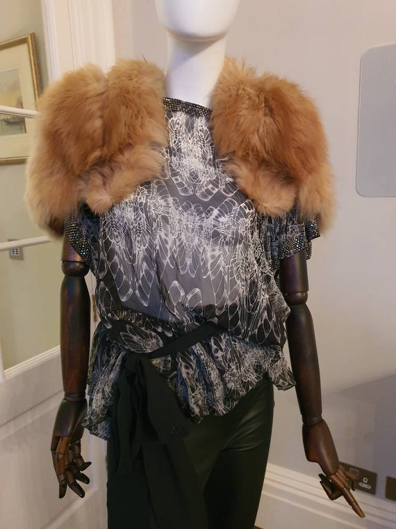 Bolero/ caplet fur vintage 1940's