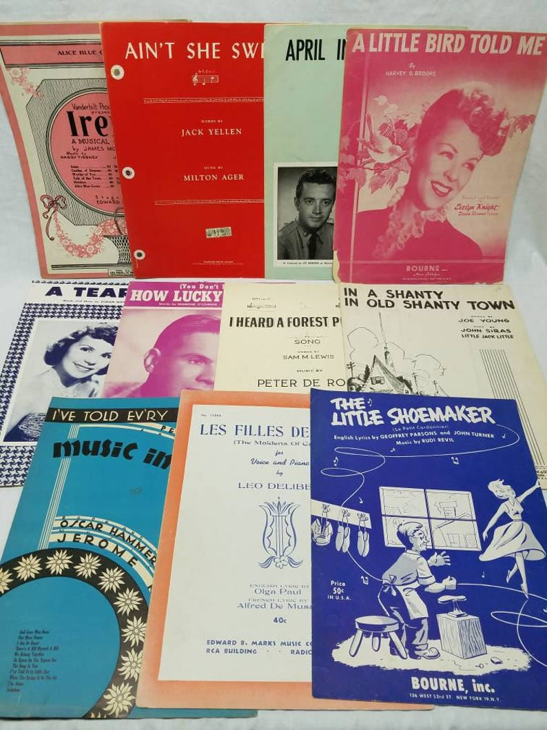 Piano and Vocal Sheet Music 28 Pieces 1920s/30s/40s Vintage Music Easy  Listening Musical Classical and Gospel