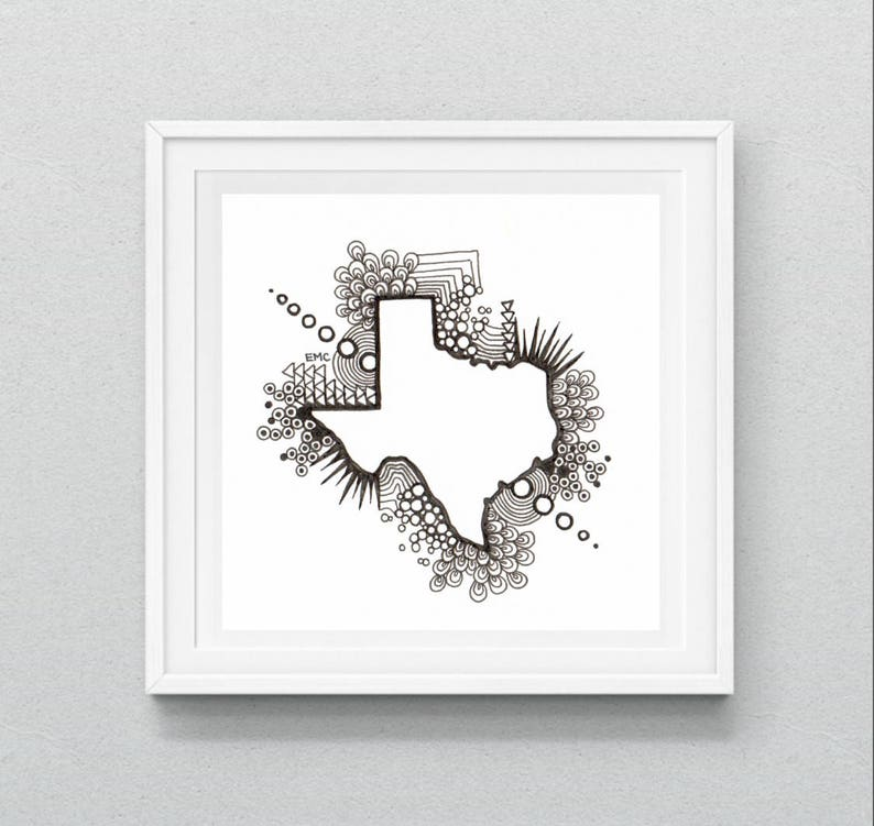 photograph about Printable Texas Map referred to as Texas Map Printable, Texas Map Drawing, Texas Wall Artwork, Place Map Print, Texas Map, Retro Zen Tangle, ANY Region Readily available, Electronic Down load