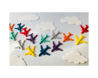 Areoplane Cake Toppers. Edible. Any colour combination. X 12