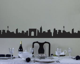 City Skyline Vinyl Wall Art Border