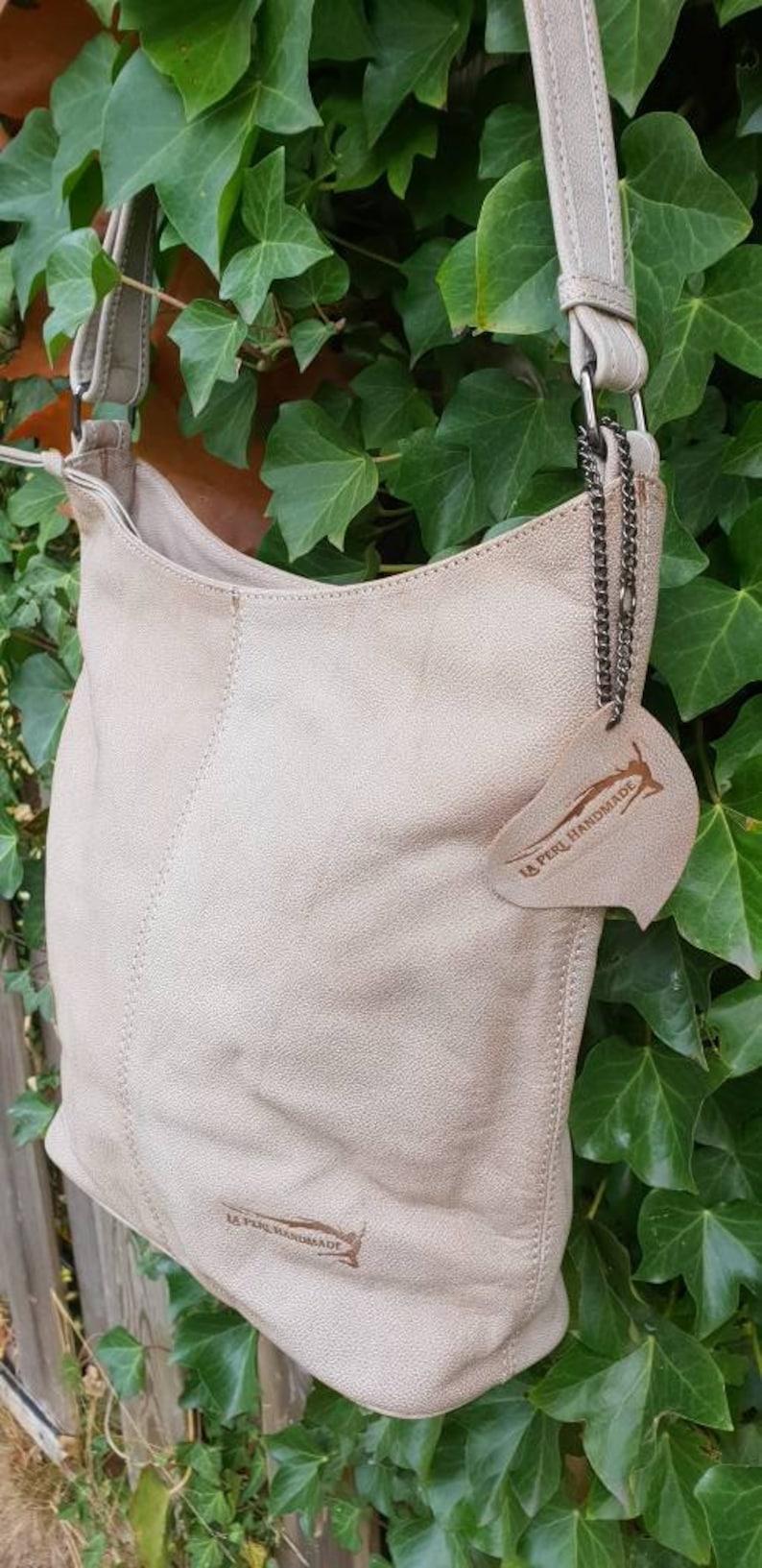 Eco-Suede leather fashionableshopperLeatherbagHandmadebagSuedbag