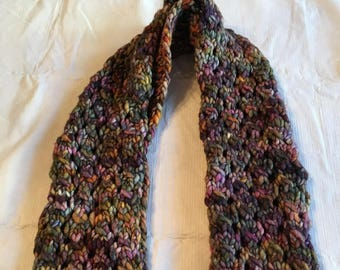 Ladies hand knit scarf/Ladies winter scarf/ladies scarf/ladies multicolored scarf