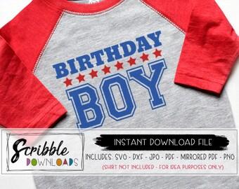 2ab91b751 Birthday boy svg - sports theme bday - birthday party boys svg - birthday  svg clipart kids cut file shirt iron on cricut silhouette allstar
