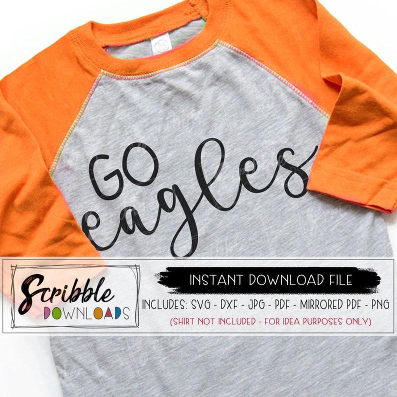 Eagles Svg Mascot Sports Eagle Diy Printable Iron On Shirt Svg Etsy