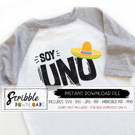 1 Fiesta Svg Uno Party Digital Iron On Diy Shirt One 1st First Etsy