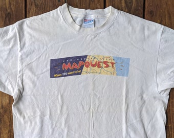 Vintage 90s single stitch Light Blue shirt With Gold Boss America embroidered Spell out on a blue Hankey