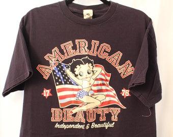 Vintage 90s Betty Boop America Tee - XL