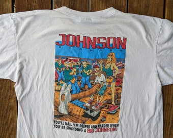 13ead484e Vintage 90s Double Sided Big Johnson Hammers Tee - XL