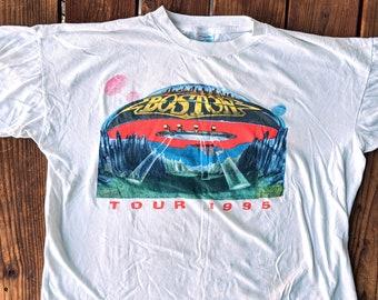 229dedf9f Vintage 1995 Double Sided Boston Tour Tee - XL