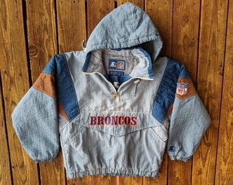 Vintage 90s NFL Denver Broncos Puffy Embroidered Starter Jacket - S ee487af75