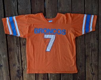 Vintage 90s Salem Sports NFL Denver Broncos John Elway  7 Tee - L 865a6c897