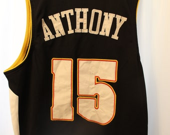 Vintage 90s Embroidered Nike Carmelo Anthony Denver Nuggets Jersey - XXL (54 ) 8e643276e