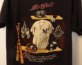 Vintage 1991 MLB New York Yankees Tee - L