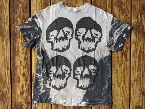 Vintage 80s / 90s Double Sided 4 Skulls Mosquitohe