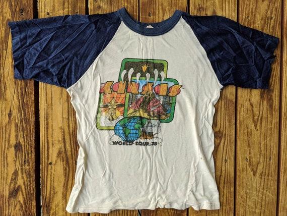 Vintage 1978 Kansas Worldwide Tour Rayon Jersey Sl