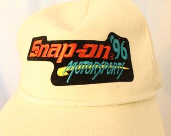 Vintage 1996 Snap-on Motorsports Strapback / Dad Hat- OS