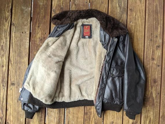 Vintage 70s / 80s Dark Brown Civilian Flight Jacke