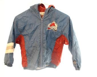 Vintage 90s Colorado Avalanche Windbreaker - Kid's M
