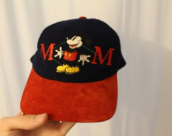 Vintage 90s Wool Mickey Mouse Strapback / Dad Hat - OS
