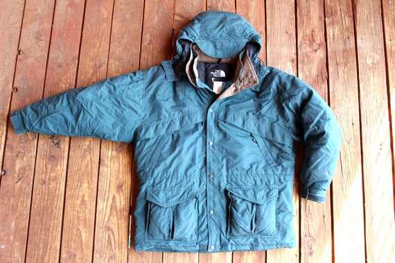 97cc1f6038 Vintage 90s The North Face Puffer Jacket w  Detachable Hood