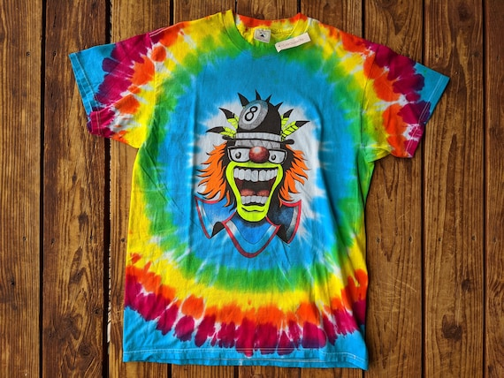 Vintage 1996 DSWT Neon Double Sided Crazy Clown Ty
