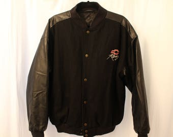 Vintage 90s Steve and Barry's Chevy Racing Varsity Jacket - L