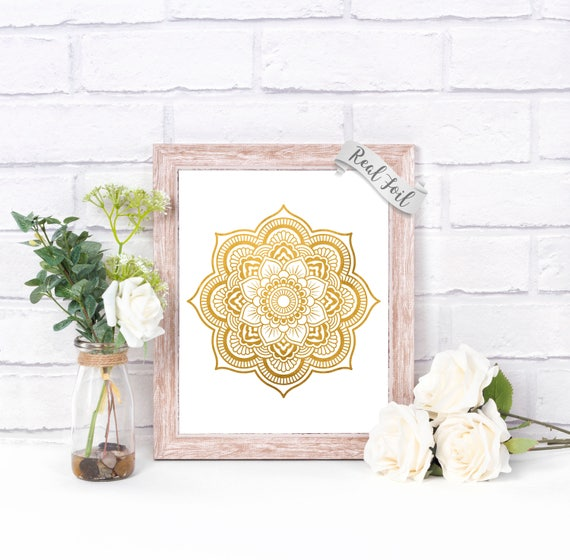 Gold Foil Wall Art Ideas