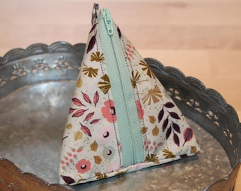 Triangle Pouch | Pyramid Pouch | Coin Purse | Cosmetic Pouch