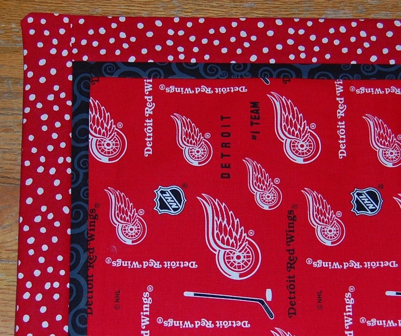 Detroit Red Wings Table Runner 37 X 14 in Red and Black