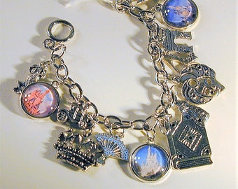 Fairy Tale Princess Inspired Charm Bracelet OOAK