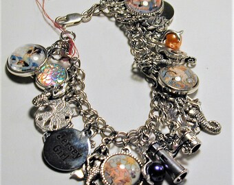Jersey Shore Cape May Beach & Mermaids Inspired Charm Bracelet   OOAK