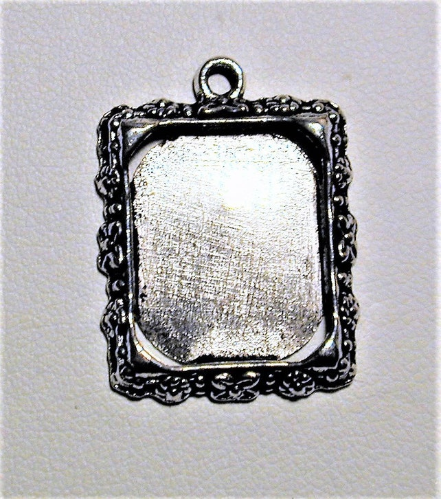 10pc Silver Picture Frame Charms 20mm x 16mm C205 | Etsy