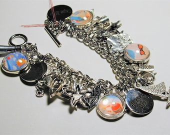 Jersey Shore Cape May Beach Inspired Charm Bracelet  #2  OOAK