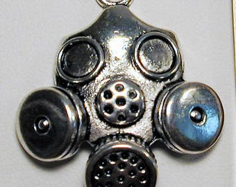 2 Gas mask Charms  C161