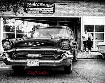 Hidden Treasures - Chevrolet, Antique Car, Fine Art Photography,  Black and white photo,  vintage car fine art print,  Home wall decor