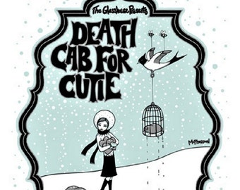 POSTER Death Cab For Cutie Tara Mcpherson Artist Signed Numbered Pretty Girls Make Graves 2004 Concert