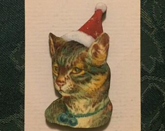 Santa Cat 3 Christmas Needleminder